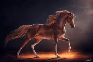 Horse Digital Art Wallpaper