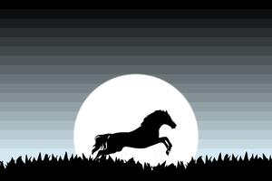 Horse Minimal 4k Wallpaper