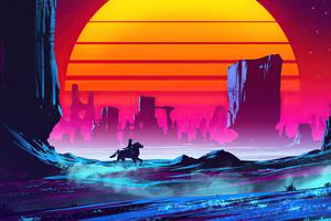 Horse Rider Cyberpunk 4k Wallpaper