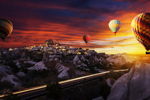 Hot Air Balloons Over Goreme 4k Wallpaper