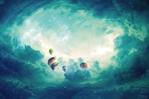 Hot Air Balloons Sky Dreamy 4k