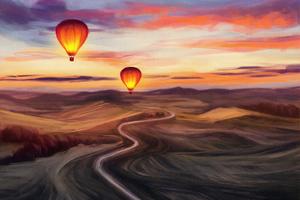 Hot Airballons Explorers Wallpaper