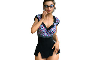 Hot Girl 3d CGI Wallpaper