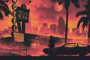 Hotline Miami Game Retro Style Dark Life Cityscape 5k Wallpaper
