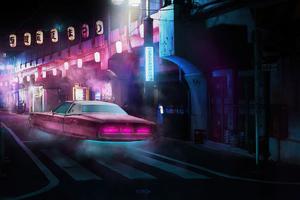 Hovercar Scifi City 4k