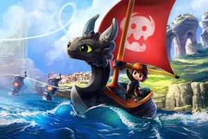 How To Train Your Dragon And Wind Waker Crossover 4k Wallpaper