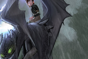 How To Train Your Dragon Into Hidden World Sketch Art