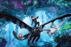 How To Train Your Dragon The Hidden World 12k Poster Wallpaper