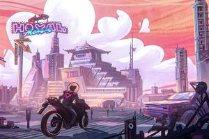 Hoyal Motors Biker City 5k Wallpaper