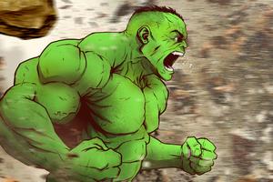Hulk 4k Arts Wallpaper
