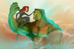 Hulk And Black Widow Artwork