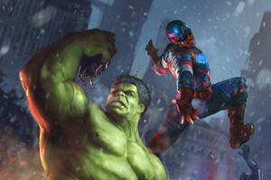 Hulk And Captain America