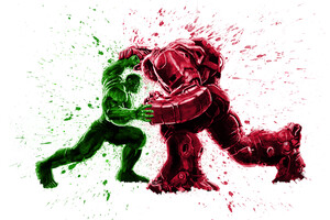 Hulk And Iron Hulkbuster
