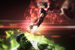 Hulk And Iron Man Art Wallpaper