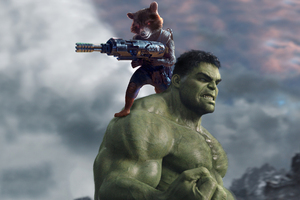 Hulk And Rocket Raccoon