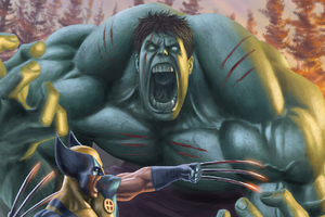 Hulk And Wolverine Wallpaper