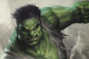 Hulk Angry Art Wallpaper