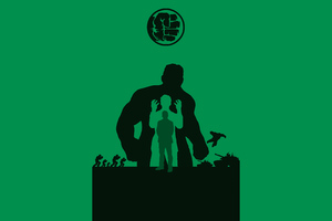 Hulk Avengers Endgame 4k Minimalism
