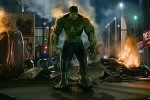 Hulk Between Flames