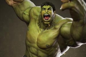 Hulk Digital Art 4k