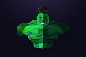 Hulk Facets Art