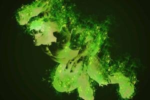 Hulk Glowing Art