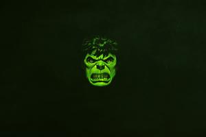 Hulk Green Minimal 4k