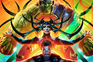 Hulk Hela Thor In Thor Ragnarok