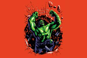 Hulk Illustration 4k Wallpaper