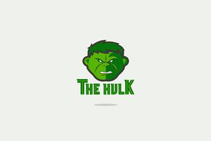 Hulk Minimal Logo 4k