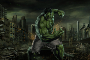 Hulk Smash 4k Art Wallpaper