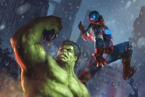 Hulk V Captain America Wallpaper