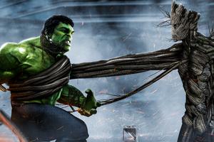 Hulk Vs Groot