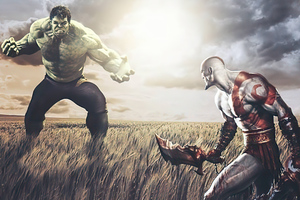 Hulk Vs Kratos Wallpaper