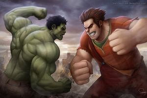 Hulk Vs Ralph Wallpaper