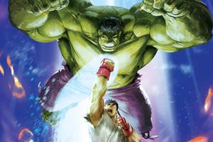 Hulk Vs Ryu MVCI Artwork