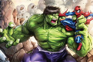 Hulk Vs Spiderman Wallpaper