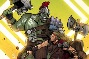 Hulk Vs Thor Art 4k Wallpaper
