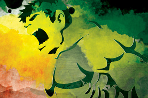 Hulk Watercolor Art