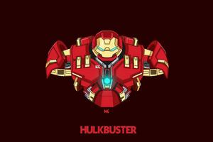 Hulkbuster Minimal 4k Wallpaper