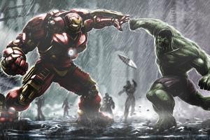 Hulkbuster Vs Hulk Wallpaper