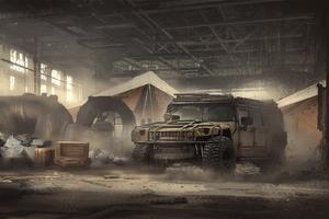 Hummer Digital Art Scifi