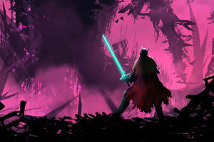 Hyper Light Drifter Warrior With Sword 4k Wallpaper