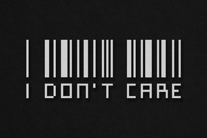 I Dont Care Barcode 4k Wallpaper