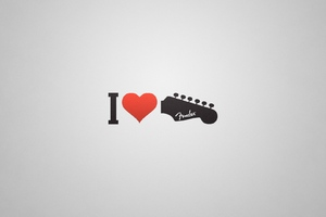 I Love Guitar Wallpaper