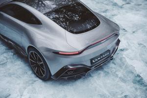 Ice Cold Aston Martin Vantage Rear 4k