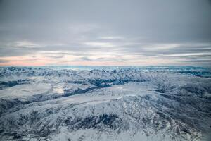 Ice Covered Mountains Aerial Photography 5k Wallpaper