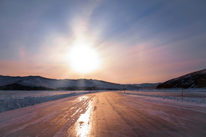Ice Crossing To Olkhon Island 4k