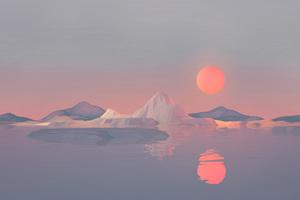 Iceberg Minimalist 4k Wallpaper