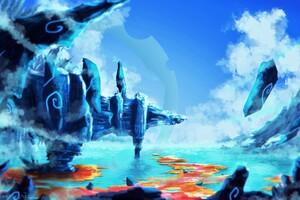 Icescape Artwork Wallpaper